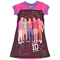 1D One Direction Girls Nightgown (M 7/8, Pink PUrple)