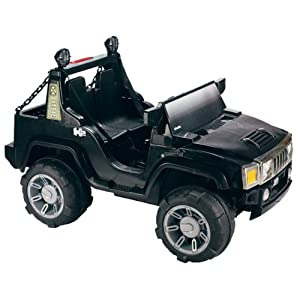 Kids 12V Black 2 Kid Ride on Hummer Style Car Electric Jeep