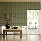 Presto Bazaar Green Jacquard Window Blind (72 Inch X 44 Inch)