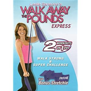 Walk Away the Pounds Express Walk Strong & Super Challenge with Bonus Stretchie