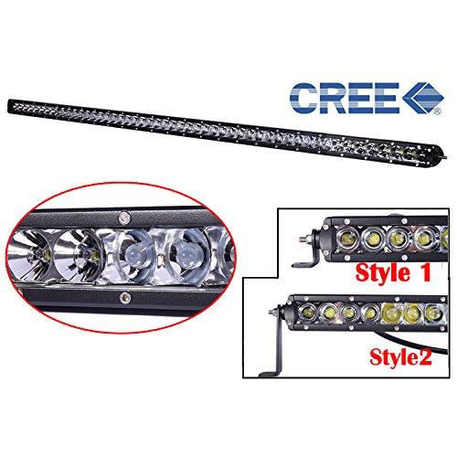 "Yuema 51"" 250W 24600Lm 50Leds Single Row Led Light Bar Spot Off Road Waterproof"
