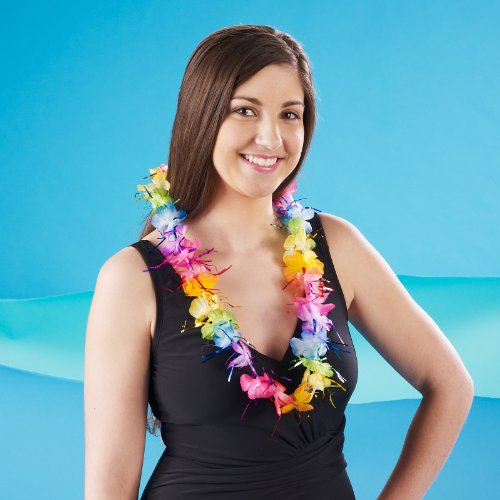 Rainbow Tinsel Lei Party Accessory