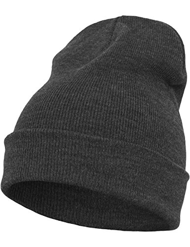 Flexfit - Berretto di peso medio, Unisex, Mütze Heavyweight Long Beanie, charcoal, Taglia unica