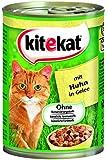 Kitekat Katzenfutter Huhn in Gelee, 12 Dosen (12 x 400 g)