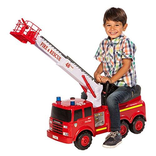 Sitz-Feuerwehr Rutschfahrzeug Fire Truck elektr. mit richtiger Löschfunktion