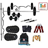 BODYFIT Home Gym Set, 20 Kg Weight Lifting