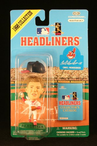 OREL HERSHISER / CLEVELAND INDIANS * 3 INCH * 1998 MLB Headliners Baseball Collector Figure