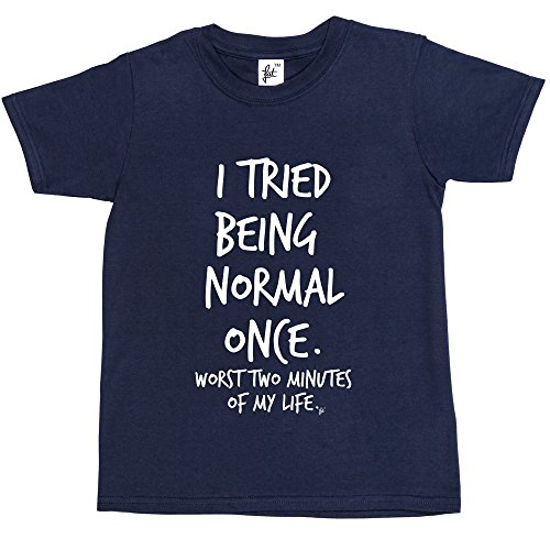 i-tried-being-normal-once-worst-2-minutes-in-my-life-kids-boys-girls-t-shirt-size-12-14-year-old-col