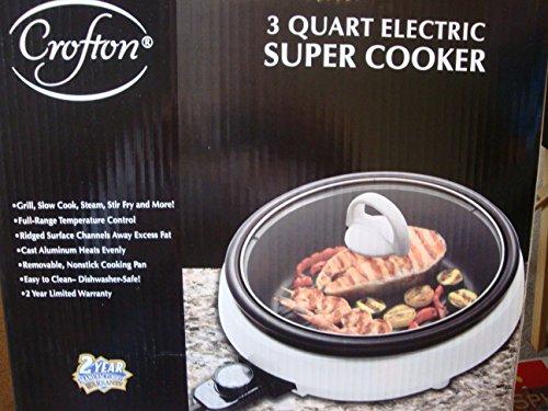 Crofton 3 Quart Electric Super Cooker