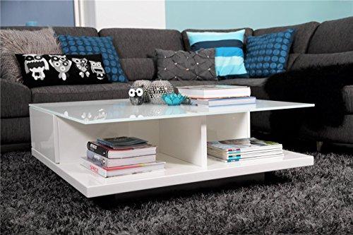 Couch-Tisch-wei-Hochglanz-mit-Schublade-100x100cm-quadratisch-Carla-Moderner-Wohnzimmer-Tisch-mit-Tischplatte-aus-Kristallglas-weiss-100cm-x-100cm