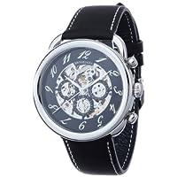 [ブルッキアーナ]BROOKIANA 機械式腕時計 スケルトン 多機能カレンダー BA1658-SVBK メンズ