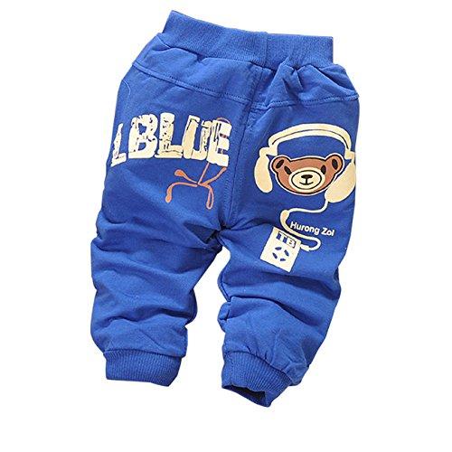 Little Hand Baby Boys' Cute Comic Bear Elastic Long Trousers Pants front-1013954