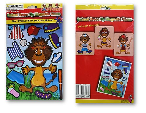 Animal Dress-Up Magnetic Game (Lion) - 1