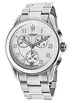 Victorinox Swiss Army Unisex 241538 Silver Chrono Classic with Ceramic Bezel Watch
