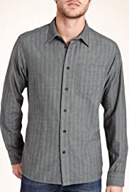 North Coast Pure Cotton Herringbone Striped Shirt [T25-5953N-S]