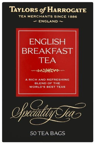 Taylors of Harrogate English Breakfast Tea, 50-Count Tea Bags (Pack of 6), Garden, Lawn, Maintenance