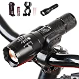 Classic Glow Bike light 1000 Lumen Headlight Bundle with Rechargeable Batteries, AC Charger + Charger Base and White Tube+Mount Holder,