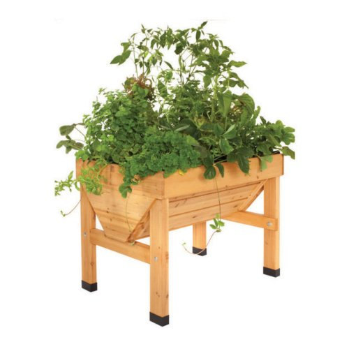 Small VegTrug Vegetable Planter - 1m Natural Wood - Plant Bed Trough