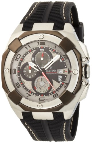 Festina Men's F16350/2 Grande Tour Stainless Steel Case Water Resistant Sport Strap Carbon Fiber Dial Watch