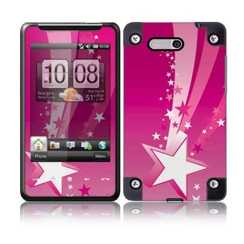 Pink Stars Protective Skin Cover Decal Sticker for HTC HD Mini Cell Phone