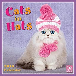 Cats In Hats Wall Calendar by Sellers Publishing Inc. 2016 by Sellers Publishing, Inc.