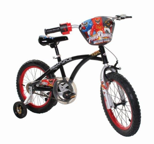 Power-Rangers-Boys-16-Inch-Mega-Force-Bike-Black-and-Red