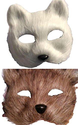 【SCGEHA】リアル お面 マスク 狐 狸 きつね たぬき ハロウィン 仮装 演劇 発表会 学園祭 だしもの イベント(タヌキ)