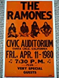 The RAMONES Santa Cruz California Poster