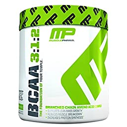 Muscle Pharm BCAA 3:1:2 Powder, Blue Raspberry, 0.47 Pound