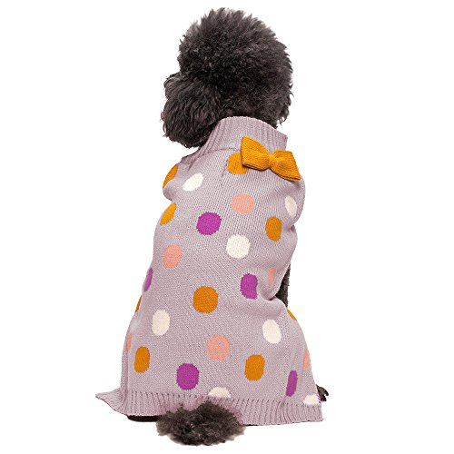 Blueberry Pet 10-Inch Pretty Polka Dot Dog Sweater, Small, Multi-Color front-847070