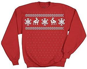 Ugly Christmas Sweater Reindeer Deer Humping Red Adult Sweatshirt