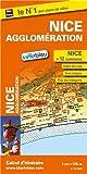 Plan de Nice et de son agglomération - Echelle : 1/12 500 - Localisation des stations Vélobleu