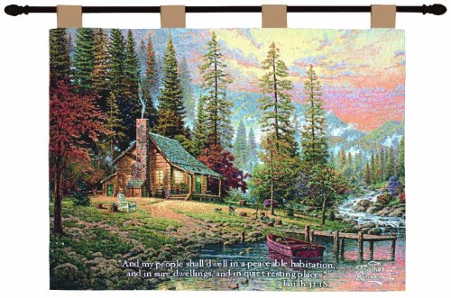Manual Inspirational Collection 26 X 36-Inch Wall Hanging And Finial Rod, A Peaceful Retreat With Verse By Thomas Kinkade front-917879