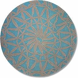 Esprit Home Oriental Lounge Turquoise Area Rug 3\'3\'\' Round