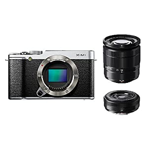 FUJIFILM デジタル一眼カメラ X-M1 Wレンズキット ズームレンズ付属 1630万画素APS-C シルバー F X-M1S/1650/27KIT