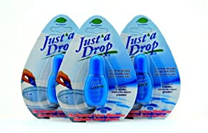 Just A Drop Toilet Personal Odor Reducer and Neutralizer - 6 Ml 3 Pack