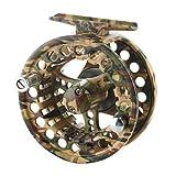 New 2+1 BB Aluminum Fly Reel 5/6 Flying Fishing Outside Diameter:85mm Camouflage
