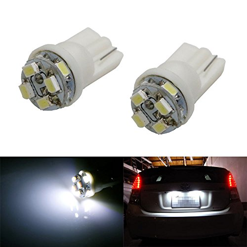 Ijdmtoy (2) Xenon White 8-Smd 360-Degree Shine 168 194 2825 T10 Led Bulbs For Car License Plate Lights