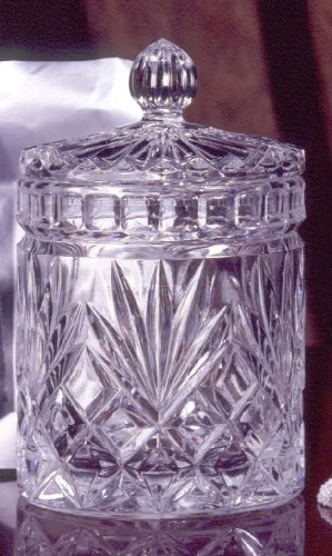 ESSEX COLLECTION 6 INCH CRYSTAL COVERED JAR