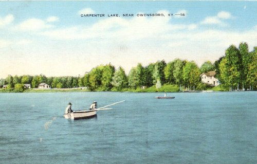1940s Vintage Postcard - Carpenter Lake - Owensboro