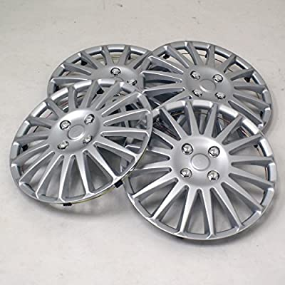 TuningPros WSC2-019S16 Hubcaps Wheel Skin Cover Type 2 16-Inches Silver Set of 4