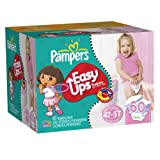 Pampers Easy Ups Trainers, Super Pack, Girl, Size 6 S4T/5T, 60 Count