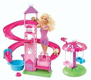 Barbie Slide & Spin Pups Playset