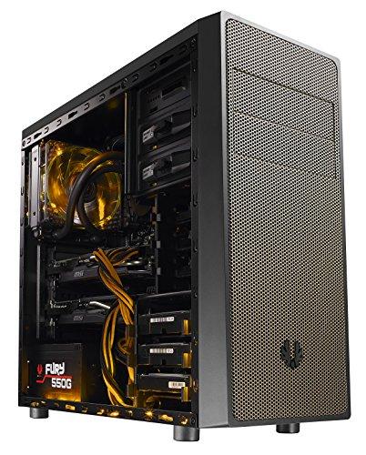 BitFenix Neos Midi-Tower - schwarz/gold mit Sichtfenster, ohne Netzteil