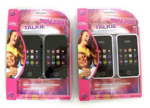 IPhone Shaped Walkie Talkies Black
