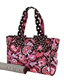 Belvah Quilted Flower Paisley Diaper Bag with Changing Pad &#8211; Pink, Brown (15x10x5.5) Review