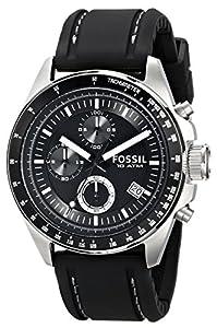 Fossil Herren-Armbanduhr Sport Chronograph Kautschuk schwarz CH2573