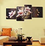 Modern Oil Painting on Canvas Stretched - Bloom in dusk