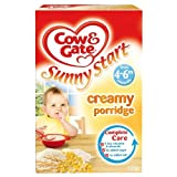 Cow & Gate 4 Month Creamed Porridge Packet 125g