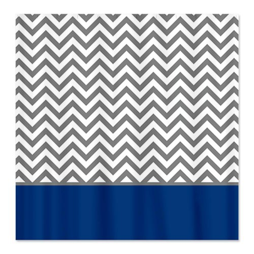 Gray Chevron Pattern Navy Blue